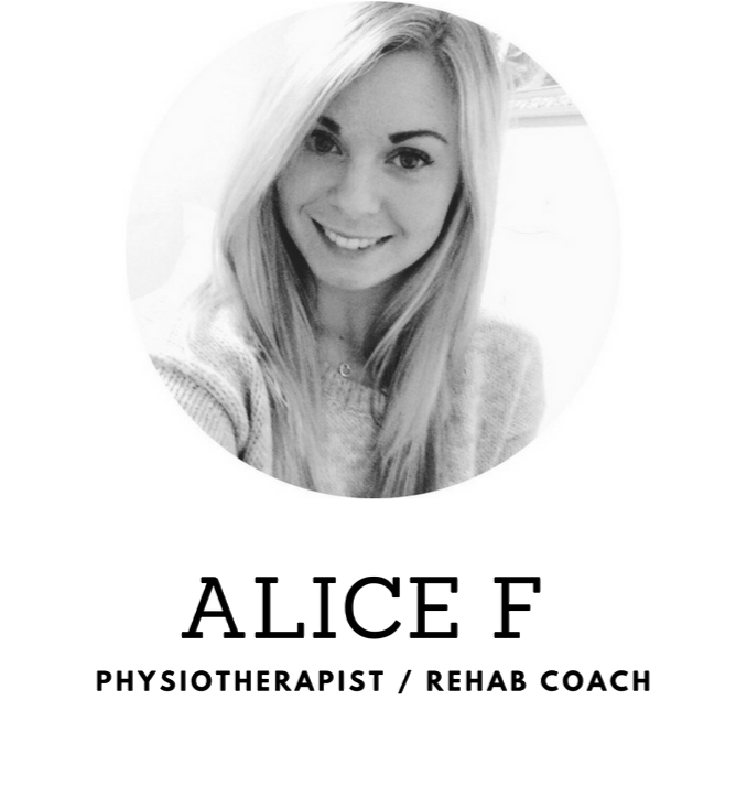 Physiotherapist, Rehab Coach - Alice F